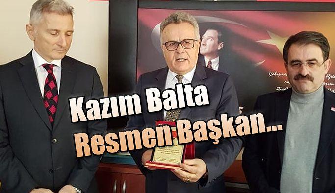 Resmen CHP İlçe Başkanı Oldu.