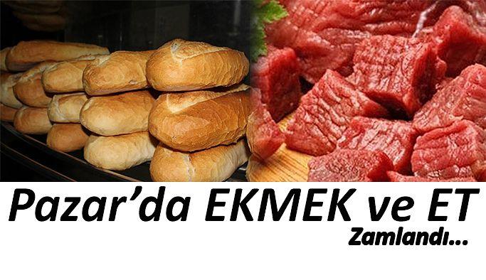 Rize-Pazar'da ekmeğin fiyatı 1 lira 50 kuruştan 2 lira 'ya yükseldi.