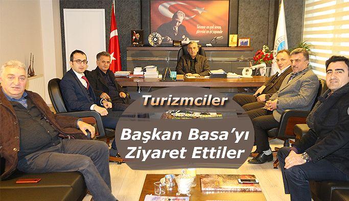 Turizmcilerden Başkan Basa 'ya Ziyaret
