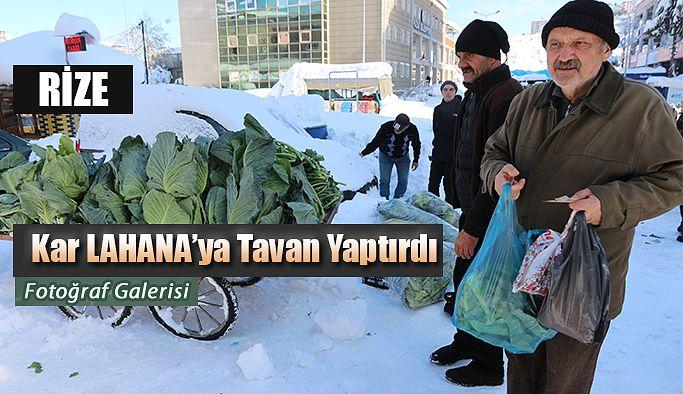 Kar Kış Soğuk lahana fiyatlarını uçurdu.