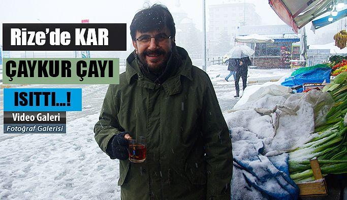 Kar'da ÇAYKUR Çayı İçilir