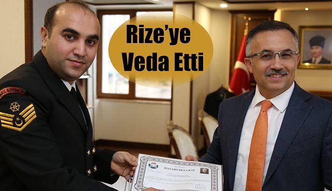 Komutan Rize'ye Veda Etti