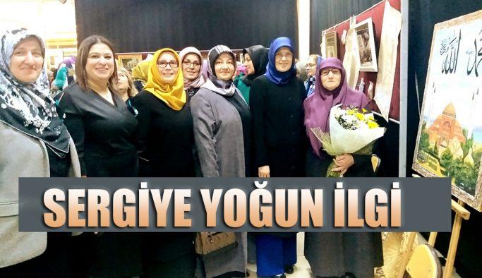 """RİZE'DE, """"HER YAŞTA SANAT"""" SERGİSİNE YOĞUN İLGİ"""