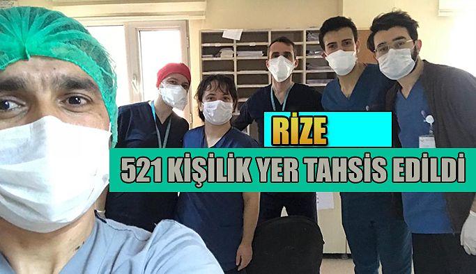 Rize'de Sağlık Çalışanlarının Dinlenmesi İçin 521 Kişilik Yer Tahsis Edildi