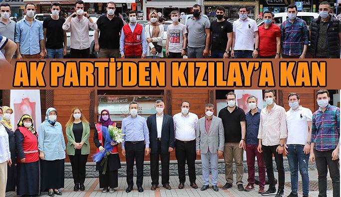 AK Parti Teşkilatlarından Kızılay Kan Desteği