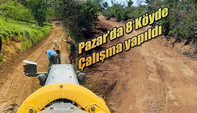 Pazar'da 8 köy de haftalık çalışmalara hız verildi.