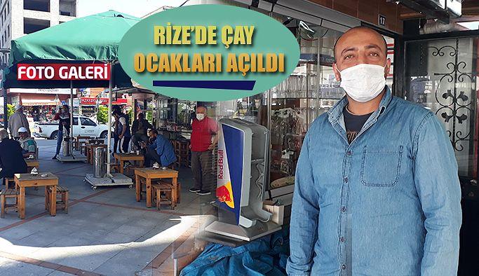 Rize'de Çay Ocakları Açıldı