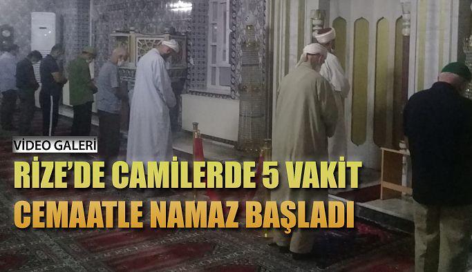 Rize'deki camiler 5 vakit ibadete açıldı