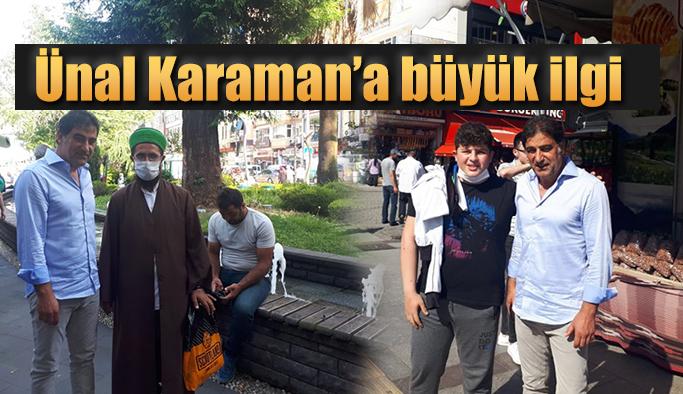 Ünal Karaman Rize'de Vatandaşlardan büyük ilgi gördü
