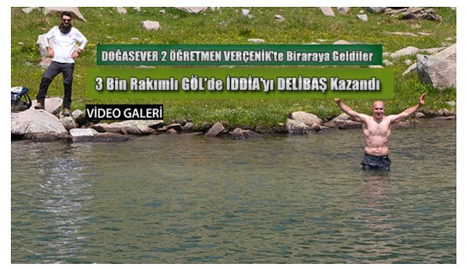 3 Bin Rakımlı Göl'de iddiaya girdiler