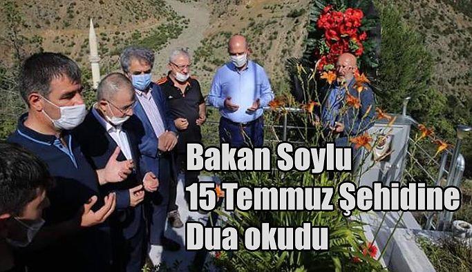 BAKAN SOYLU'DAN YUSUFELİ'NDE ŞEHİT AİLESİNE ZİYARET