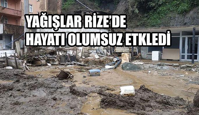 Aşırı Yağışlar Rize'de Hayatı Olumsuz Etkiledi