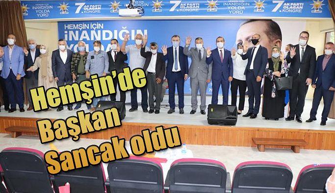 Hemşin'de Başkan Mehmet Sancak oldu.