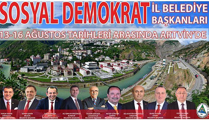 İL BELEDİYE BAŞKANLARI ARTVİN'E GELİYOR