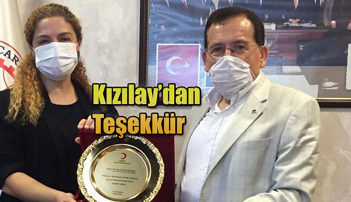 KIZILAY'DAN TTSO'YA TEŞEKKÜR PLAKETİ