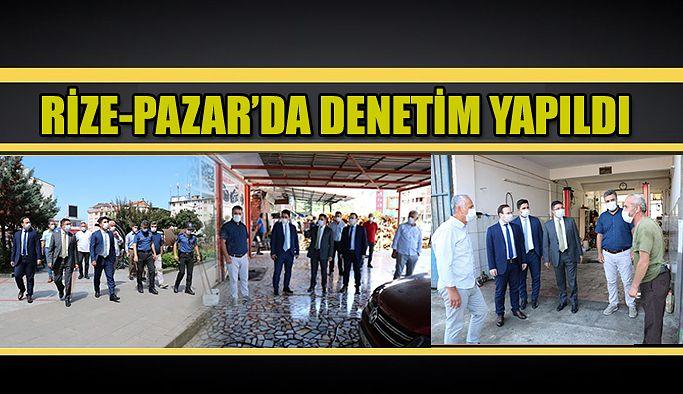 PAZAR'DA KORONA-VİRÜS DENETİMİ YAPILDI.
