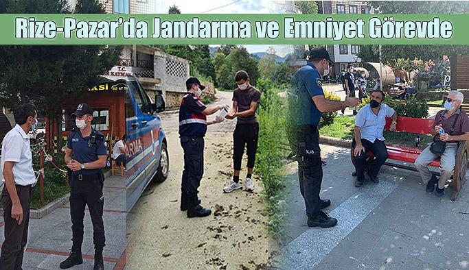 Pazar ilçesinde COVİT-19 Denetimleri..