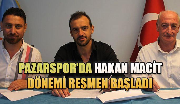Pazarspor'da Hakan Macit Dönemi Resmen Başladı