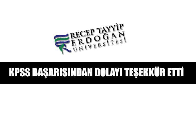 RTEÜ Üniversitesinin KPSS Başarısı