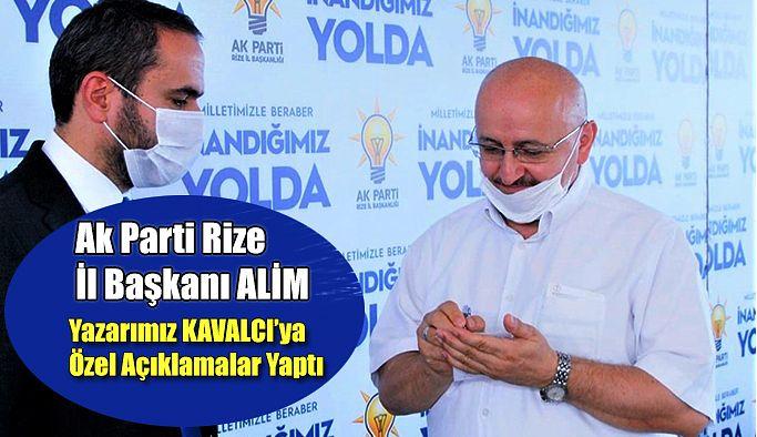 AK Parti Rize İl Başkanı İshak ALİM: KONGRELERİMİZ BÜYÜK BİR, İLGİ, SEVGİ VE SAYGI İÇİNDE GEÇİYOR