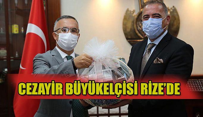 Cezayir Büyükelçisi Murad Adcabi Vali Kemal Çeber'i Makamında Ziyaret Etti.