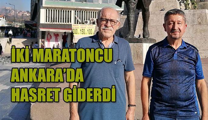 Efsane Maratoncu, Ankara'da Dağcı ve tarihçi Rıdvan Şükür'ü ağırladı