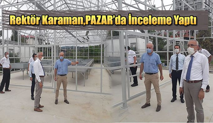 Rektör Prof Dr.Hüseyin Karaman İnşaatlarda İncelemede Bulundu