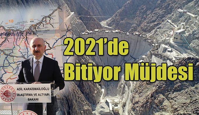 """Bakan Adil Karaismailoğlu: """"Yusufeli Barajı VE HES Projesinin 2021 yılında bitirmeyi hedefliyoruz"""" dedi"""