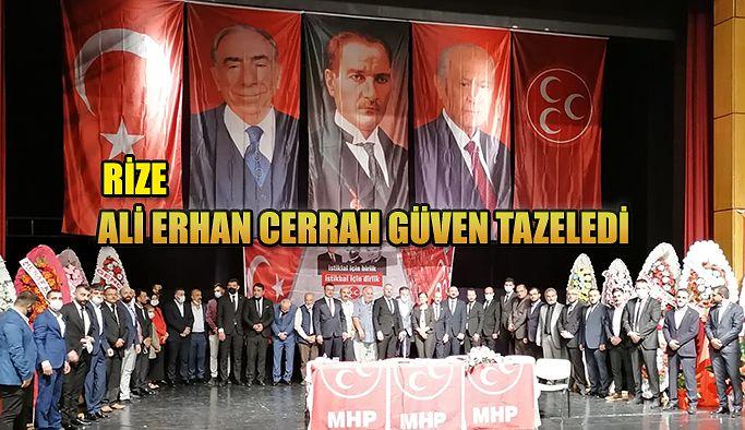 MHP Merkez İlçe Kongresi yapıldı, Ali Erhan Cerrah güven tazeledi