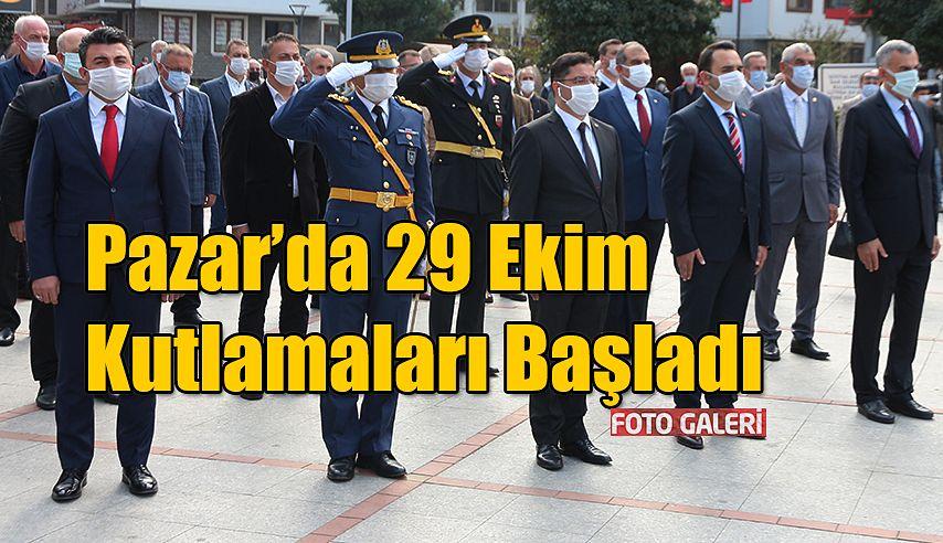 Pazar'da 29 Ekim Cumhuriyet Bayramı kutlamaları
