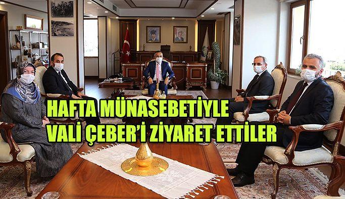 """Vali Çeber'e """"Camiler ve Din Görevlileri Haftası"""" Ziyareti"""