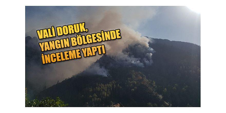 VALİ DORUK MURGUL'DA YANGIN BÖLGESİNDE