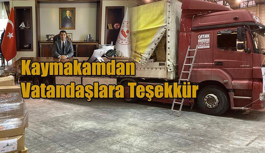 KAYMAKAM CANPOLAT'TAN TEŞEKKÜR