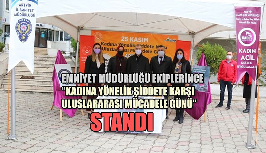 POLİS EKİPLERİ STANT AÇARAK KADES UYGULAMASINI TANITTI