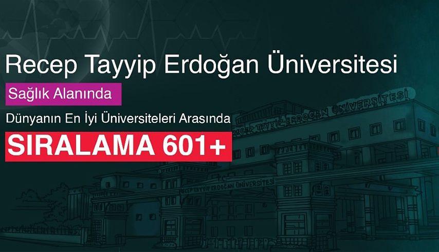 RTEÜ Sağlık Alanında Dünyanın En İyi Üniversiteleri Arasında!