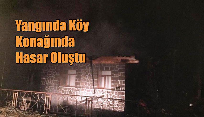 Yangında Köy Konağında Hasar Oluştu