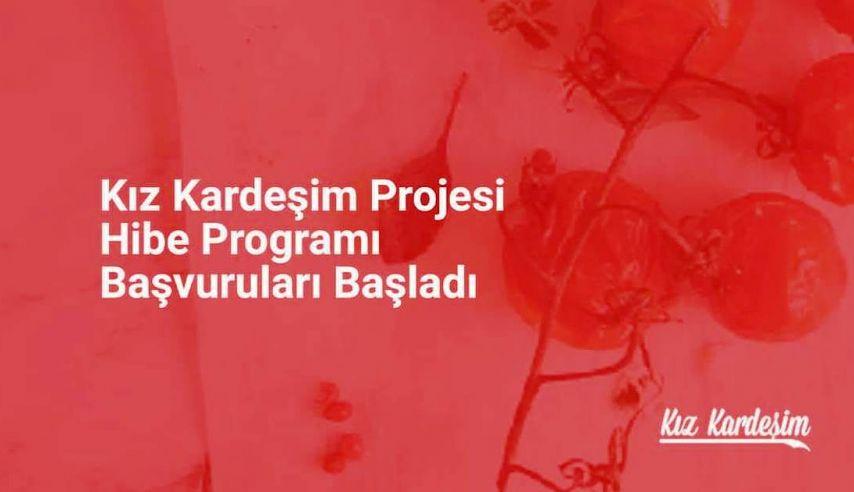 """KIZ KARDEŞİM HİBE PROGRAMI"" BAŞLADI"
