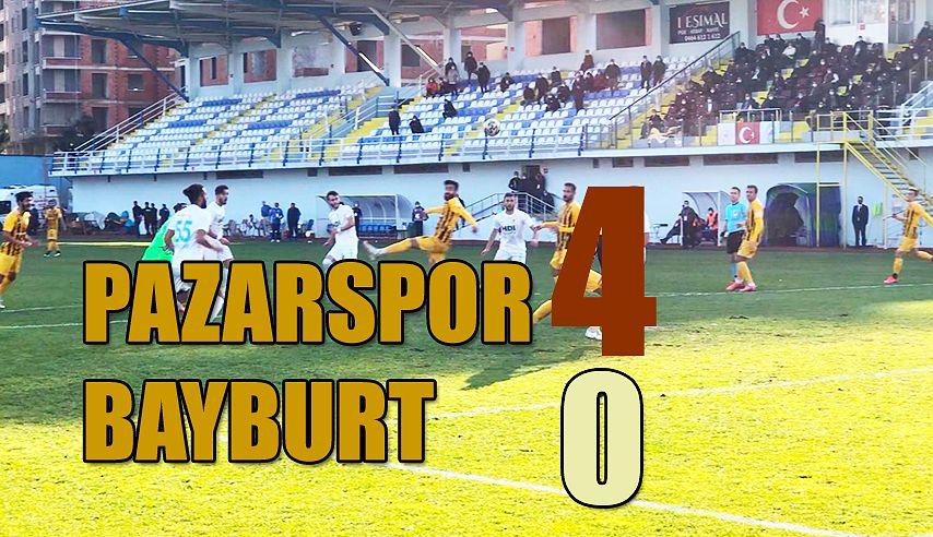 Pazarspor Coştu: 4-0
