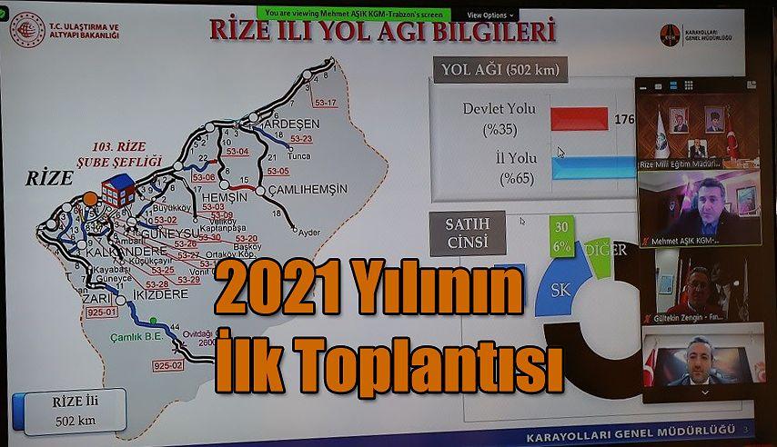 2021 Yılı I. Dönem İl Koordinasyon Kurulu Toplantısı Yapıldı