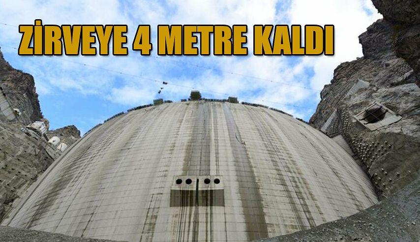 BARAJIN BİTİMİNE SON 4 METRE KALDI.