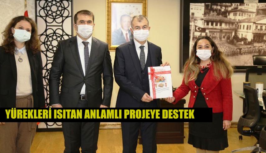 VALİ DORUK'TAN YÜREKLERİ ISITAN ANLAMLI PROJEYE DESTEK