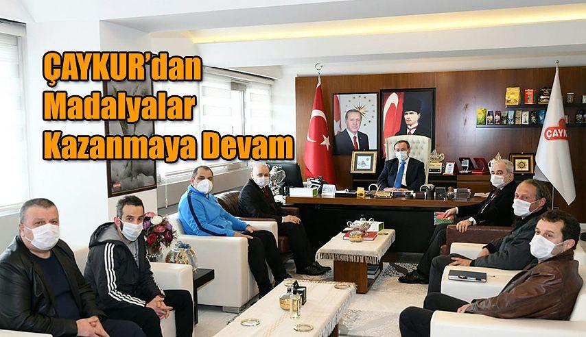 Başkan Yusuf Ziya ALİM;  ÇAYKURSPOR OLARAK TÜRK SPORUNA MADALYA KAZANDIRMAYA DEVAM EDİYORUZ