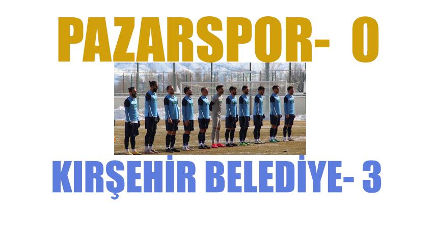 Pazarspor Kırşehir'e 3-0 Mağlup Oldu