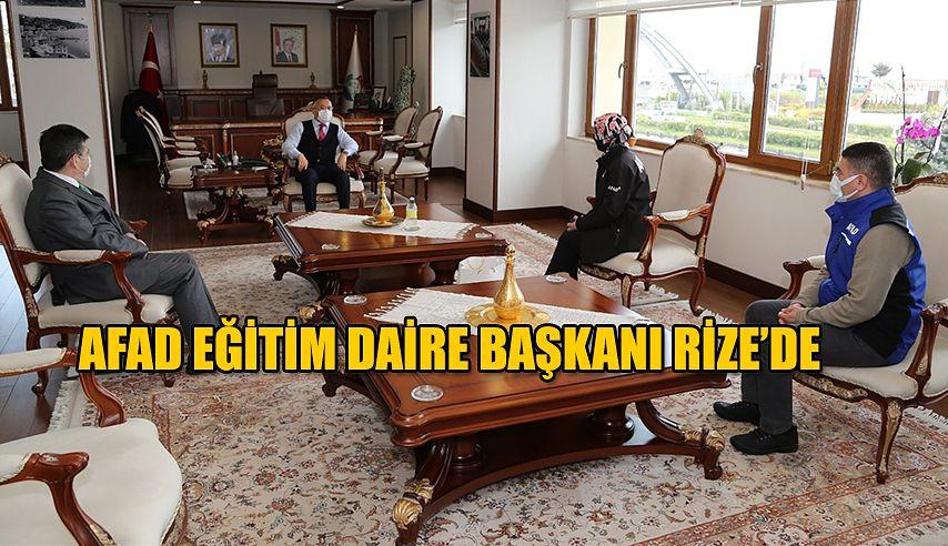 AFAD Eğitim Dairesi Başkanı Nalan Aydın, Vali Çeber'i Ziyaret Etti