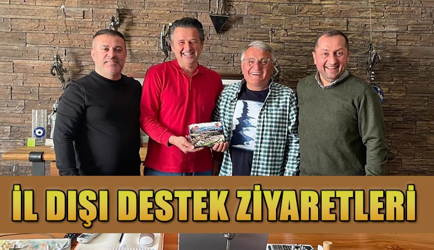 Artvin Çoruhspor Kulübü il dışı destek ziyaretlerine devam ediyor