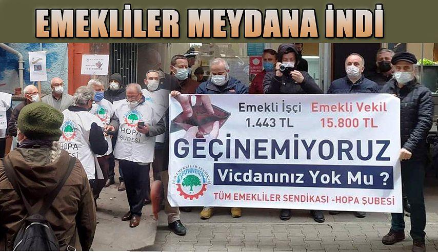 """EMEKLİLER SESLERİNİ DUYURDU """"GEÇİNEMİYORUZ İSYANDAYIZ!"""""""