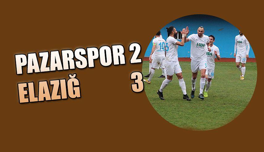 Pazarspor 2 Elazığ 3