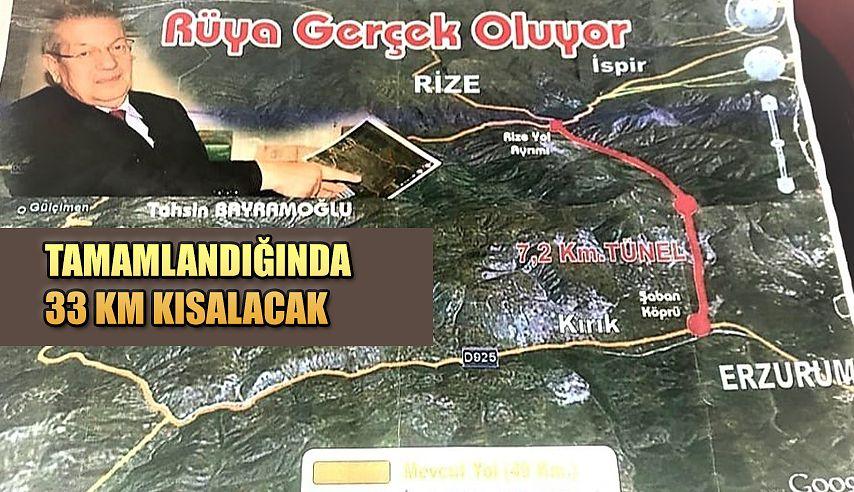 Rize-Erzurum Kırık Ve Dallıkavak Tünelleri Rüyası Gerçek Oluyor