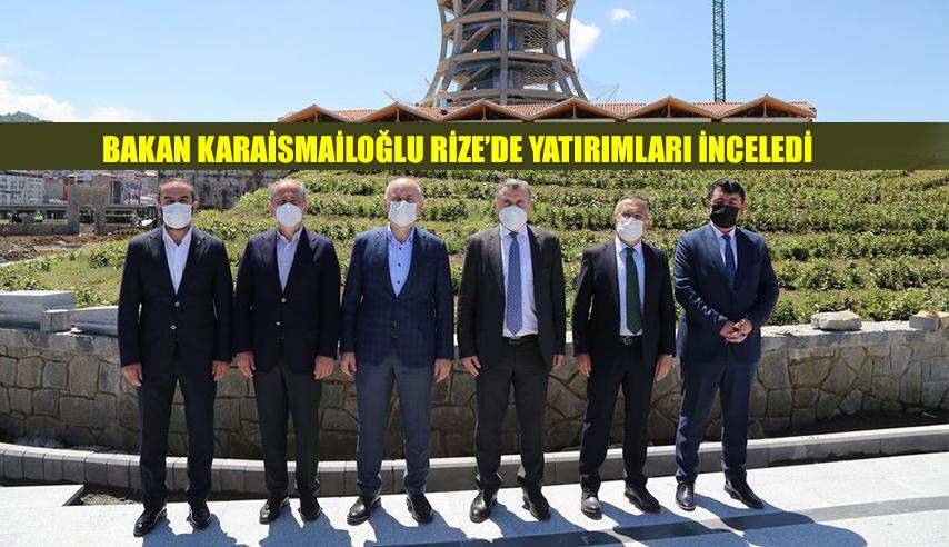 Bakan Karaismailoğlu, Rize'de incelemelerde bulundu