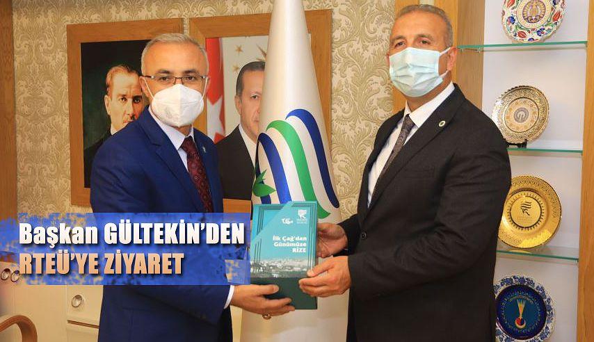 DOKAP Başkanı Hakan Gültekin, Rektör Karaman'ı Ziyaret Etti